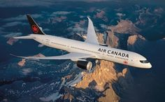 To celebrate its birthday, Air Canada is introducing a brand new livery. For the first time in many years, the famous Air Canada Rondelle will. Boeing 787 Dreamliner, Boeing 787 8, Air France, Doha, Airline Reservations, Aviation Industry, Domestic Flights, Civil Aviation, Air Travel