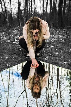 #reflection #photography #ideas #forest #portrait by @maddiecchristensen