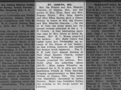 St Joseph, MO news ~ June 12, 1915 on page 8 ~ New Hope Baptist Church
