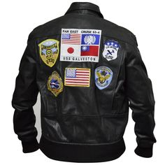 Check item description on website. Brown Leather Bomber Jacket, Faux Leather Jackets, Top Gun Movie, Flight Bomber Jacket, Z Cam, Mens Flannel Shirt, Tom Cruise, Cowhide Leather, Fighter Jets