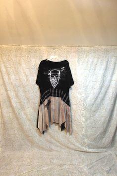 RevivaL Women's Upcycled Boho TShirt Grunge Rocker by REVIVAL