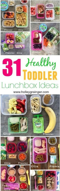 31 Healthy Lunchbox Ideas for Toddlers via Holley Grainger Nutrition #eatingwithellie #feedingfrances
