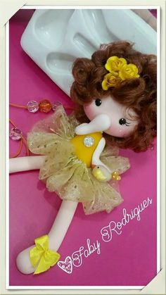 fabric made doll craft.