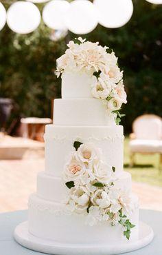 Wedding cake idea; Featured Photographer: Sylvie Gil Photography, Featured Cake: Sweet on Cake