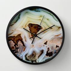 THE BEAUTY OF MINERALS Wall Clock by Catspaws - $30.00