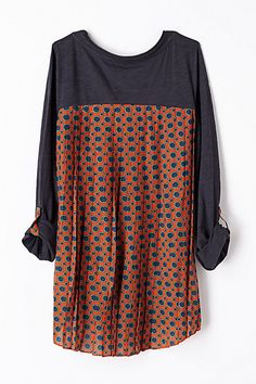 Accordion Tee #anthropologie, would be fun to recreate