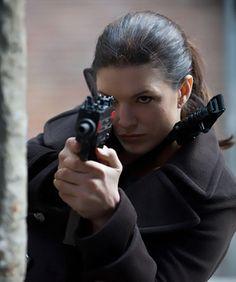 "Gina Carano, playing the criminal operative who calls herself ""Jezebel."""
