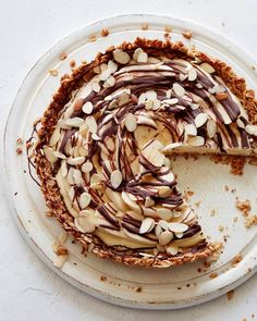 Banana Cream Tart with an Oatmeal Cookie Crust from 'What's Gaby Cooking' by Gaby Dalkin on 'Eat Your Books'