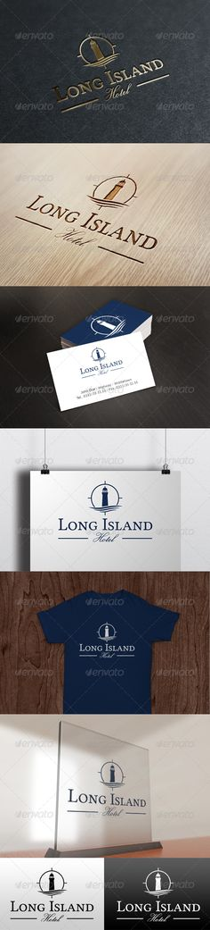 Long Island Hotel Logo Design Template Vector #logotype Download it here:  http://graphicriver.net/item/long-island-hotel-logo-template/6512489?s_rank=453?ref=nexion