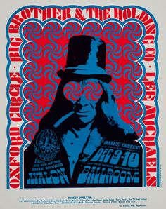 Victor Moscoso -  psychedelic rock posters