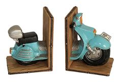 Pair of Resin Scooter Bookends