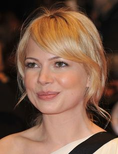 See photos of Michelle Williams over the years and her iconic hairstyles including her platinum pixie, her red pixie and her long bob.: Michelle Williams before she cut her hair in 2010