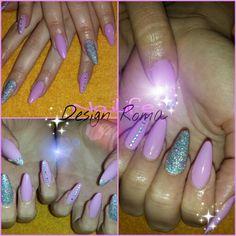 Ligth pink silver nails