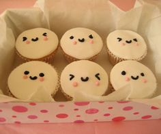 I like #Kawaii drawing as they are usually very happy and smiley and rainbow colours, these are cupcakes