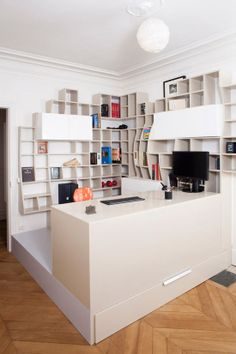 Book shelf mania for classrooms: 60 Cool Office Workspaces | Part 17
