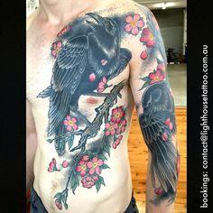 japanese raven tattoo - Google Search