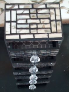 Mirror Mosaic Jewelry Chest  5 Drawers by LiveInMosaics on Etsy, $198.00