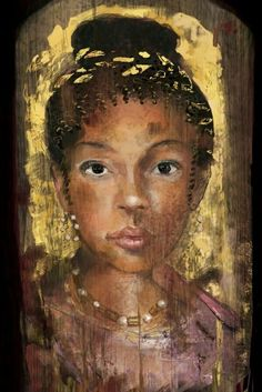 Beautiful girl portrait, Fayoum, Roman Egypt