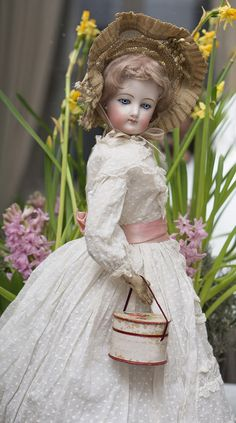 "20"" (51 cm)French Fashion Doll by Francois Gaultier, spiral threaded eyes, c.1875"