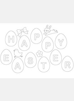 Design For Kids Free printable coloring pages for children that you can print out and color. Spring Coloring Pages, Easter Coloring Pages, Coloring Pages For Kids, Colouring Pages, Kids Coloring, Easter Activities For Kids, Preschool Crafts, Crafts For Kids, Easter Projects