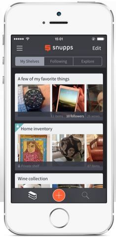 Snupps app lets you keep digital inventory of all your stuff. One of the best we've seen.