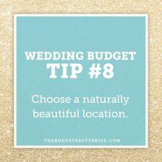 wedding budget tips - choose a naturally beautiful location