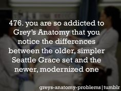 I've got Greys Anatomy Problems....