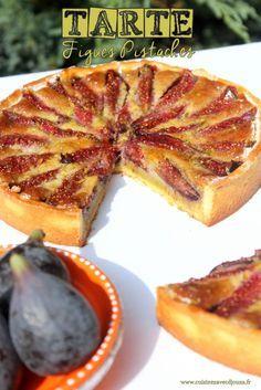 Tarte figues fraiches creme de pistache