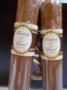 Custom Cigar Bands Wedding Party and Groomsman Cigar Bands by iDoArtsyWeddings on Etsy https://www.etsy.com/listing/184809269/custom-cigar-bands-wedding-party-and