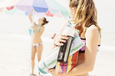 Want a worry-free way to make sure you're drinking enough water in the sun? A Connected Hydration Bottle with Smart Lid is the perfect beach buddy.