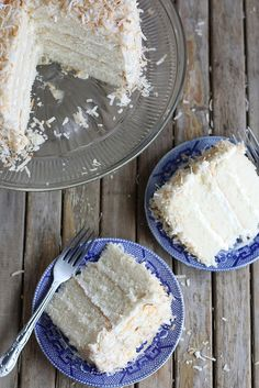 Southern Coconut Cake by Completely Delicious, Adapt to make into cupcakes? Southern Coconut Cake Recipe, Coconut Recipes, Baking Recipes, Cake Recipes, Dessert Recipes, Coconut Cakes, Lemon Cakes, Just Desserts, Delicious Desserts