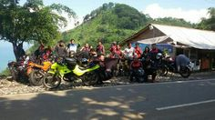 Touring at sawarna beach indonesia
