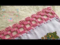 Crochet Edging Tutorial, Crochet Edging Patterns, Crochet Lace Edging, Crochet Borders, Weaving Patterns, Crochet Designs, Crochet Stitches, Beginner Crochet Projects, Crochet For Beginners