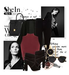 """""""Shein"""" by sejlathemonster ❤ liked on Polyvore featuring Yves Saint Laurent, 7 For All Mankind, WearAll, Style & Co., Aquazzura, Christian Dior and Blue Nile"""