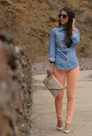 outfit pantalon naranja - Buscar con Google