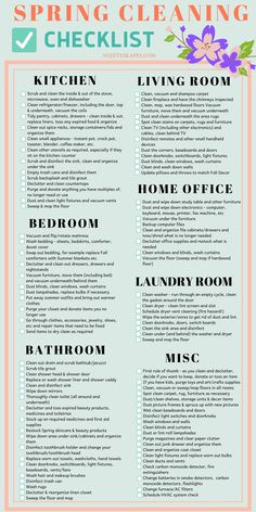 Put on your Spring Deep Cleaning hat on and party it up as you make your way through your home clean Diy Home Cleaning, Weekly Cleaning, Household Cleaning Tips, House Cleaning Tips, Diy Cleaning Products, Cleaning Hacks, Cleaning Check Lists, Cleaning Calendar, Cleaning Routines
