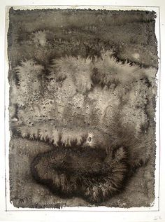 Stephen Croeser - Sumi 2011, charcoal and gum arabic on paper 400x300mm