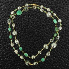 Tahitian Pearl & Emerald Necklace