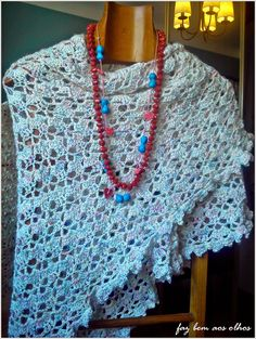 Faz bem aos olhos   Crochet - Crafts - Lifestyle: xailes