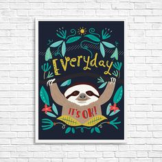 Wall Art – Everyday it's ok! - Original poster (A4 size) – a unique product by JaCieBrosze on DaWanda