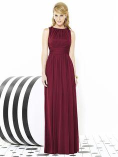 After Six Bridesmaids Style 6709 - Chiffon - Burgandy - available at Low's in Brinkley @jezebellee @tarashelton623 @duskweaver