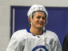 Hockey coaches say it to players all the time, but for Maple Leafs forward William Nylander, no extra encouragement is needed. William Nylander, Maple Leafs Hockey, Funny Hockey, Hockey Stuff, Hockey Girls, Toronto Maple Leafs, World Of Sports, Black N White, Fine Men