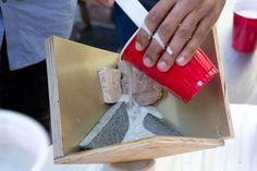 Rockite cement DIY bookends