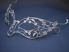 Butterfly mask - $339.99 : Medieval Bridal Fashions, Circlets, Headpieces, Necklaces and Bracelets for your Renaissance, Celtic or Elven Wedding!