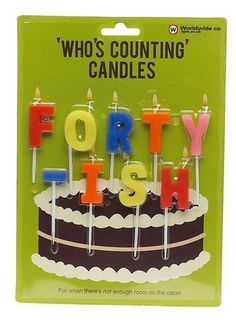 Forty-ish Birthday Candles by NPW. $5.95