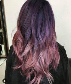 New Hair Color Purple Plum Shops 46 Ideas Dusty Rose Hair, Rose Gold Hair, Violet Hair, Dye My Hair, New Hair, Hair Color Purple, Faded Purple Hair, Purple Bob, Purple Ombre
