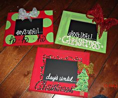 Chalkboard Christmas Countdown/ Picture Frame