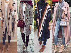 poncho-with-hijab- Hijab fashion gallery http://www.justtrendygirls.com/hijab-fashion-gallery/
