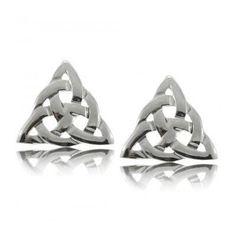 Celtic Triquetra Stud Post Earrings