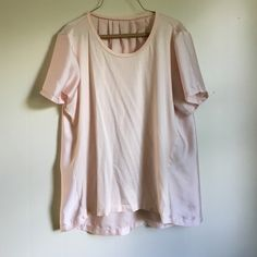 J. Crew silk panel detail top This shirt is a gorgeous pale pink color cotton with silk sleeves and a silk back. I took the tag out when it was itchy. Worn less than 5 times. J. Crew Tops Tees - Long Sleeve